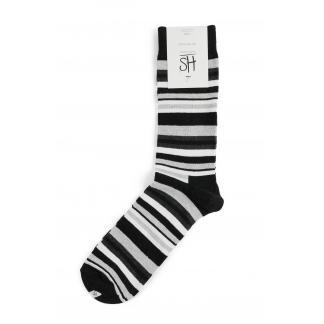Happy Socks Stripe sokken - grijs gestreept