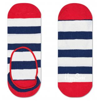 Happy Socks Stripe Liner sokken - Footies - blauw/wit