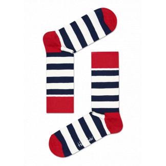 Happy Socks Stripe sokken - wit/blauw