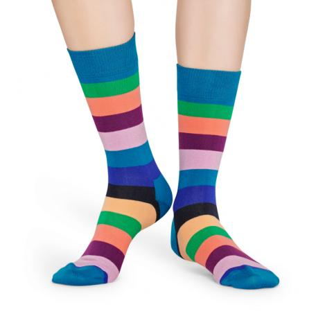 Happy Socks Stripes Sokken, Blauwgroen