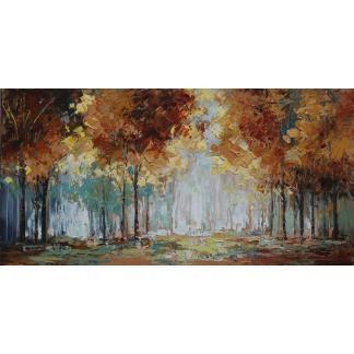 Het Bos - Canvas schilderij - Olieverf