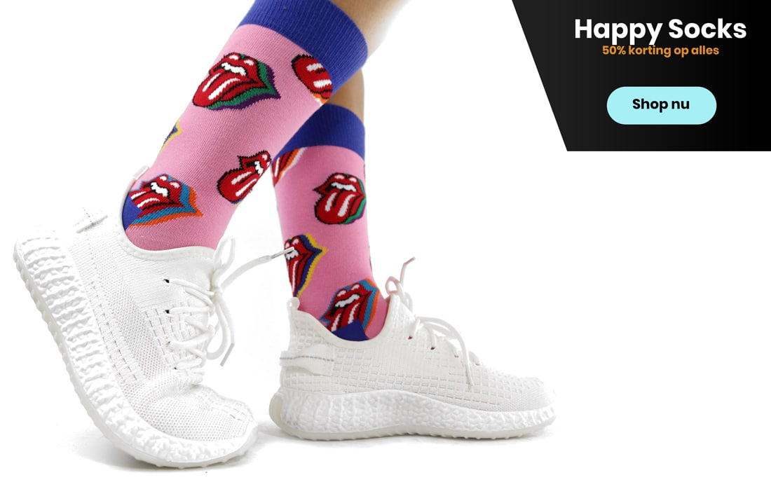 Shop Happy Socks bij Expo XL met 50% korting
