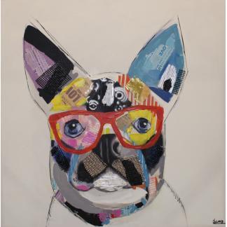 Hond Abstract - Canvas schilderij - Olieverf