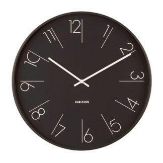 Karlsson Elegant Numbers wandklok - zwart - 40cm