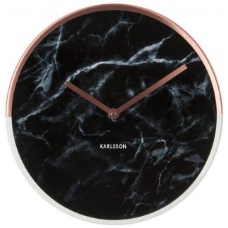 Karlsson Marble Delight wandklok - zwart