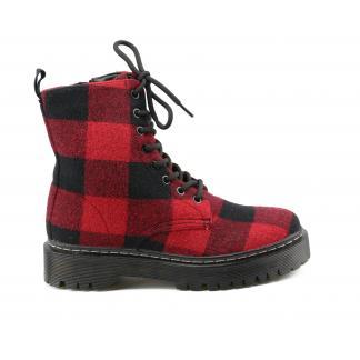 Lumberjack Biker Boots - rood