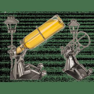 Metalen flessenhouder, drinkbak