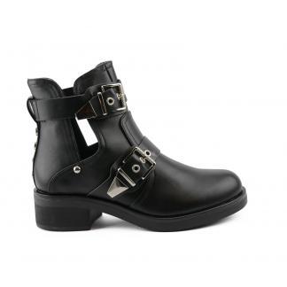 Moda Cut Out Boots, Zwart
