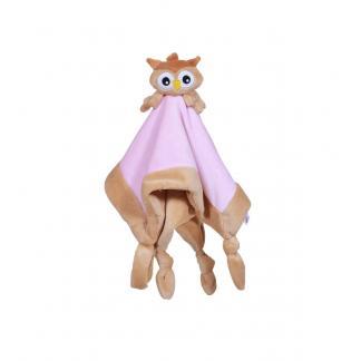 My Teddy knuffeldoek Uil - roze