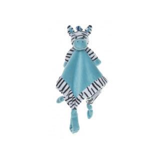 My Teddy knuffeldoek Zebra - blauw
