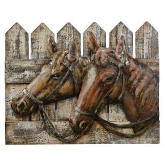 Paarden - 3D metaal schilderij