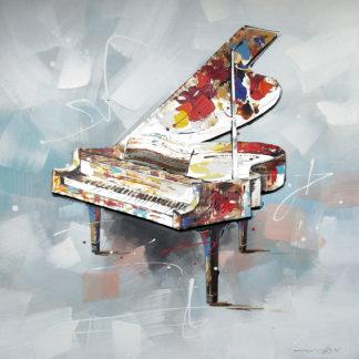 Piano Abstract - Canvas schilderij - Olieverf