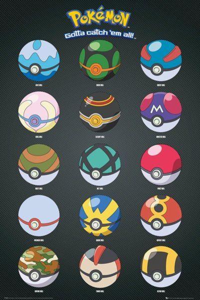 Pokémon: Poké balls - Poster