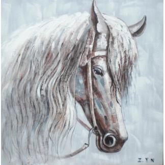 Paard Portret - Canvas schilderij - Olieverf