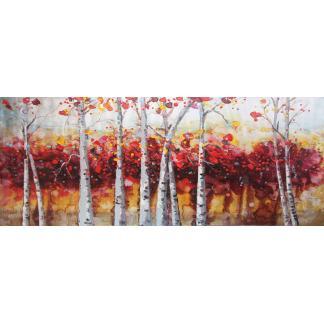 Rode Bos - Canvas schilderij - Olieverf