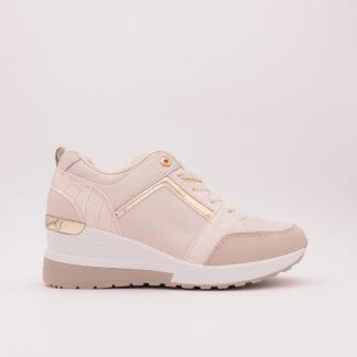 Sneakers Met Verborgen Sleehak, Beige