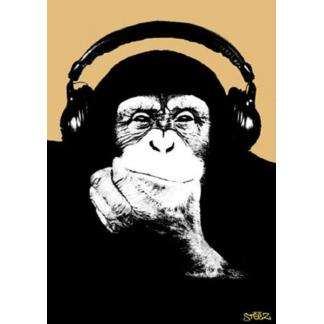 Steez: Headphone Monkey - poster