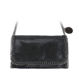 Stella Chained Mini Crossbody Tas, Zwart