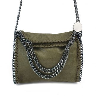 Stella Chained Mini, Crossbody Tas, Groen