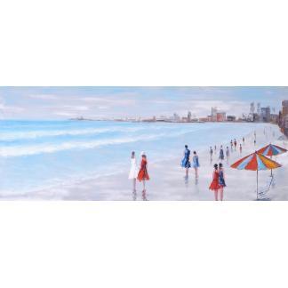Strand - Canvas schilderij - Olieverf