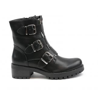 Triple Buckle biker boots - rugged