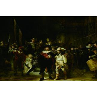 XXL Glasschilderij Nachtwacht - 100 x 150 cm